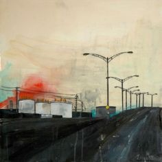 Amand Versia Baiell Encaustic 20 x 20 2015 Currently on display at The Cube Gallery. 1285 Wellington Street West, Ottawa until May 2015 Urban Landscape, Ottawa, Cube, Display, Street, Gallery, Artist, Painting, Billboard