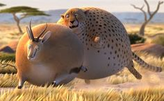 What if wild animals ate fast food   Le Pictographe