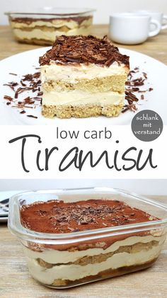 Tiramisu faible teneur en glucides - mince avec l& - Low Carb Dessert // Low Carb Nachtisch - Low Carb Dinner Recipes, Low Carb Desserts, Low Calorie Recipes, Gourmet Recipes, Snack Recipes, Diet Recipes, Dessert Recipes, Zoodle Recipes, Entree Recipes