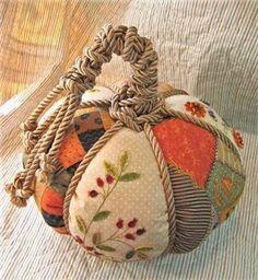 patchwork stuffed pumpkin