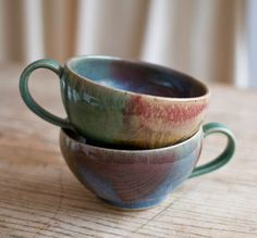 soup mugs #pottery #etsy #soup #home #kitchen #handmade