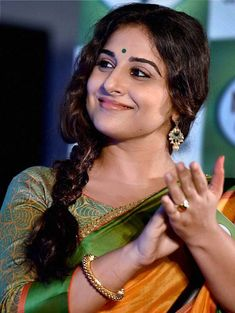 Bollywood actress Vidya Balan during a promotional event in Kolkata. Indian Actress Gallery, South Indian Actress Hot, Indian Actress Photos, Actress Pics, Indian Actresses, Beautiful Bollywood Actress, Most Beautiful Indian Actress, Beautiful Actresses, Vidya Balan Hot