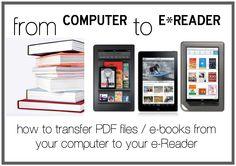 How To Transfer PDF Files & e-Books From Your Computer To Your E-Reader #ebook #kindle #ipod #books #read