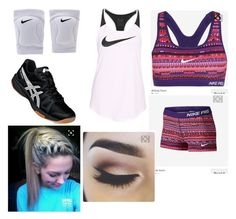 """Volleyball"" by faithjohnson-ii ❤ liked on Polyvore featuring Asics and NIKE"