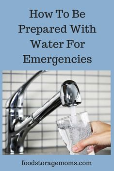How To Be Prepared With Water For Emergencies. Please store water for your family, you will need it, I promise. Emergency Food Storage, Emergency Preparedness Kit, Emergency Preparation, Water Survival, Survival Food, Survival Skills, Urban Survival, Fruit Strips, Freeze Drying Food