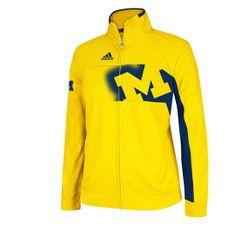 Adidas University of Michigan Football Warm Up Jacket - M Den