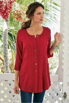 Tunic - Soft Surroundings offers stylish, luxurious & comfortable women's clothes for every size. Find beautiful shoes and jewelry to match. Feel your best in the softest fabrics from Soft Surroundings.