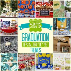 Find 25 Graduation Party Ideas and Graduation Party Printables for planning a Graduation Party including unique and original ideas for guys and girls!