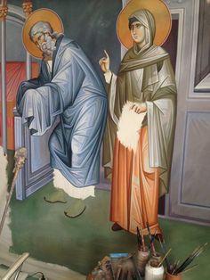 Iconographer Dimitris Maniatis – icoana Byzantine Icons, Byzantine Art, Writing Icon, Life Of Christ, Orthodox Icons, Vignettes, Fresco, Christianity, Saints
