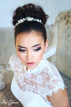 Свадебная прическа пучок