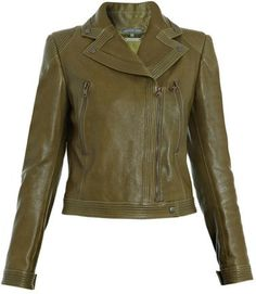 Alexander McQueen Quilted-detail leather jacket on shopstyle.com