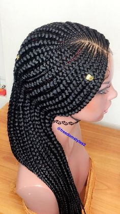 Cornrow has its main moment at this time. Cornrow styles are ideal for women with the organic black hair. Braids are an excellent means to have great style whilst not having to be concerned about your hair for months. Box Braids Hairstyles, Braids Wig, Twist Braids, African Hairstyles, Fishtail Braids, Front Braids, Ghana Braids, Braided Ponytail, Plaits
