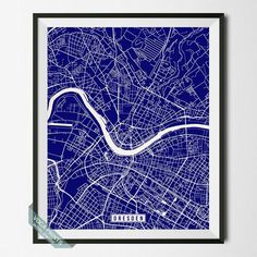 DRESDEN, GERMANY STREET MAP PRINT by Voca Prints! Modern street map art poster with 42 color choices. Perfect for anyone who loves to travel or is away from home.