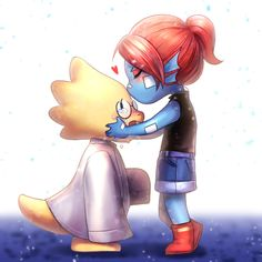 Cuz they're cute as kids. I don't ship it at all, though. Undertale Movie, Undertale Ships, Undertale Au, Alphys X Undyne, Toby Fox, Cute Little Things, Cute Comics, Badass, Video Game