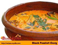 BLACK POMFRET CURRY | Yummy Recipes Basa Fish Recipes, Indian Fish Recipes, Grilled Fish Recipes, Goan Recipes, Seafood Recipes, Kerala Recipes, Indian Foods, Veg Dishes, Tasty Dishes