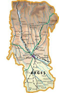 Harta judetului Arges