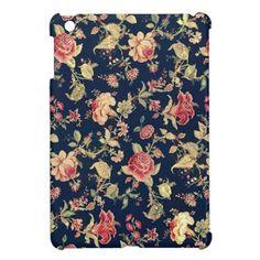 Elegant Vintage Floral Rose iPad Mini Case $42.95