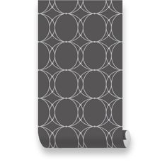 Oval Geometric Dark Grey Removable WallPaper