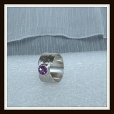 OOAK sterling silver ring faceted alexandrite by LucilleParenteau, $75.00