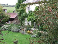 I would  be ever so happy living in this French Country Cottage--such charm of life.