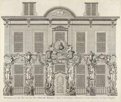 Anonymous   Praalboog voor het huis van B. Mauritz, 1751, Anonymous, Isaak Tirion, 1753   Praalboog aangebracht voor het huis van Bernard Mauritz, een raad en oudschepen van Vlissingen en rentmeester van de stadhouder. Praalboog ontworpen en beschilderd door Jan Huis, schilder te Middelburg. Onderdeel van de illustraties van de inhuldiging van Willem IV als erfheer van Vlissingen op 5 juni 1751.