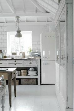 smeg koelkast wit