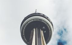 Download wallpapers CN Tower, Toronto, Tower, view from below, sky, Canada