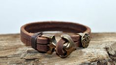 FREE SHIPPING Mens Bracelet Leather Men Bracelet by FosforStore