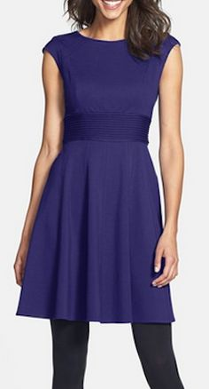 Cute fit and flare dress http://rstyle.me/n/mqvcznyg6