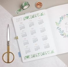 Did you already know @kawaiipenshop? A few days ago my first order from them arrived and I am so happy with my new planner goodies ☺️. On this yearly overview I used their washi tape with leaves . If you are searching for some new things for your Bullet Journal you should definitely check them out. They have also some really cool sticky notes and notebooks in stock. And with the code PUREPLANNING you will get a discount of 10% . #bulletjournal#bujojunkies#bulletjournalcommunity#planner#pl...