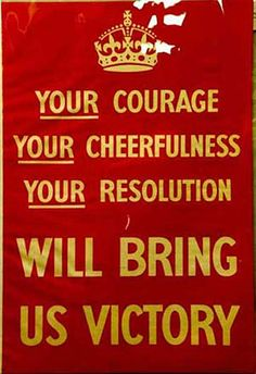 Original 1939 Your courage poster
