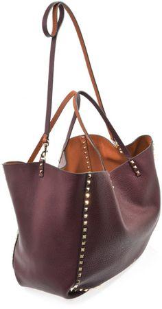 366f5570ad8b Rockstud Reversible Leather Tote Bag - Lyst Valentino Women