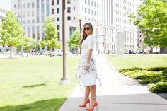Denver blogger, floral 3D skirt!... More details on TheCashmereGypsy.com