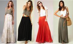 5 formas de usar tu Maxi-Falda para favorecerte al máximo.  | Moda Mckela