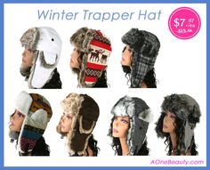 Winter Trapper Hat on SALE now! http://www.aonebeauty.com/hats-earmuffs/?sort=newest #trapperhat #winterhat #fashion #sale