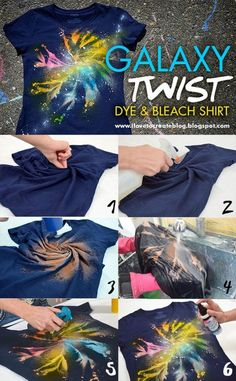 Galaxy twist dye bleach shirt