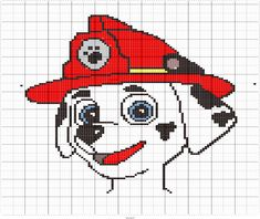 Stitch Fiddle is an online crochet, knitting and cross stitch pattern maker. Paw Patrol Marshall, Cross Stitch Pattern Maker, Cross Stitch Charts, Cross Stitch Patterns, Pixel Art, Paw Patrol Characters, Pull Bebe, Graph Design, Crochet Motifs