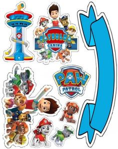 Paw Patrol Birthday Theme, Paw Patrol Party, Baby Boy Birthday, 2nd Birthday, Imprimibles Paw Patrol, Paw Patrol Cake Toppers, Cumple Paw Patrol, Paw Patrol Invitations, 4th Birthday Parties