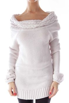 Like this Bebe sweater? Shop this without using money! Trade. Shop. Discover. #fashionexchange #prelovedfashion  Cream Turtleneck Knit Sweater by Bebe
