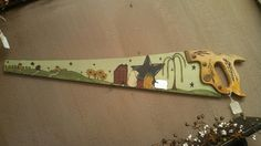 Primitive Hand Painted Saw by CherishEveryMomentSF on Etsy, $25.00