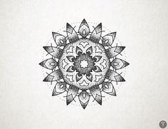 Round dot mandala tattoo sketch