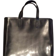 Pre-owned Anya Hindmarch Black Tote Bag ($161) ❤ liked on Polyvore featuring bags, handbags, tote bags and black