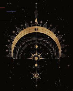The Cosmic Archer for all of my Sagittarius friends here 🌟 Wicca, Tattoo Sonne, Les Chakras, Moon Art, Geometric Art, Dark Fantasy, Occult, Art Inspo, Astrology