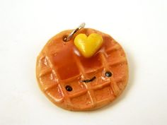 Hey, I found this really awesome Etsy listing at https://www.etsy.com/listing/220144765/food-charm-food-jewelry-clay-waffle