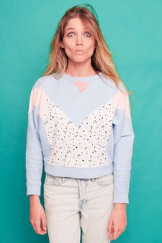 Memphis Milano pastel handmade sweatshirt par WilderShores sur Etsy