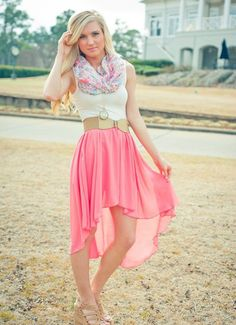 Love that new high-low style with skirts and dresses