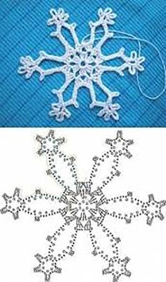 Wonderful DIY Crochet Snowflakes With Pattern Crochet snowflake chart Crochet Snowflake Pattern, Crochet Stars, Crochet Motifs, Christmas Crochet Patterns, Holiday Crochet, Crochet Snowflakes, Crochet Diagram, Crochet Doilies, Crochet Flowers