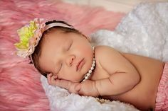 Mc3 newborn pic idea--just wearing the pearls K gave me for our first valentines day :)