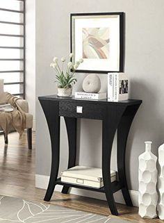 #lounge #TagsForLikes Add a stylish touch to your entryway or any interior space with this console table. A two-tiered design and #black finish highlight this mo...