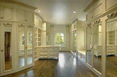A walk-in closet with plenty of storage space - Luxury Walk-in Closets #luxurywalkincloset